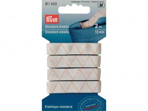Prym Elastisk strikk 12mmx2m - hvit