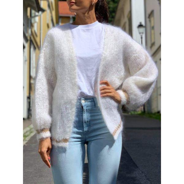 Olivia Mohair Cardigan - White