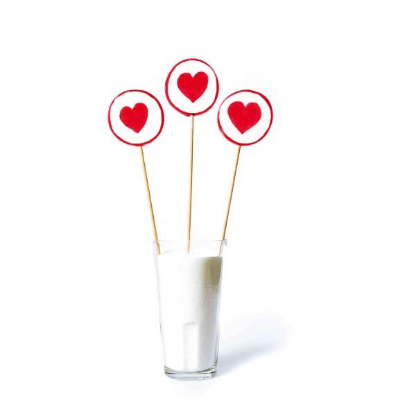 Hjerte slikkepinne