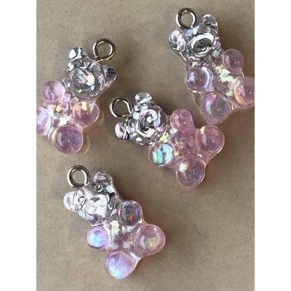 Teddy - rosa m/glitter