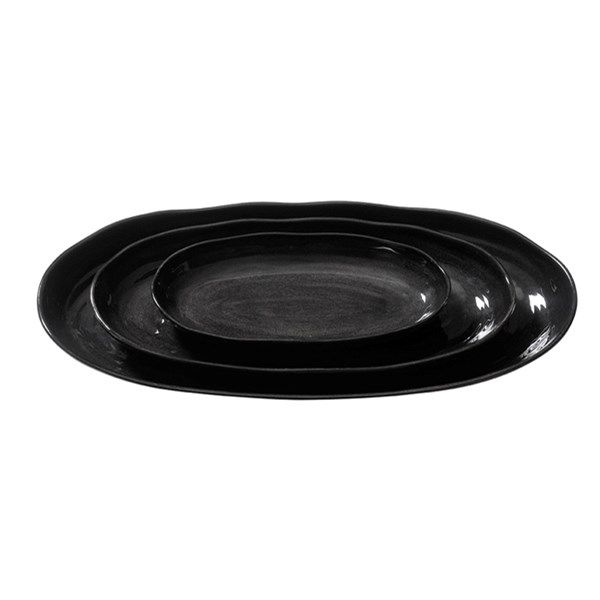Capri fat ovalt medium-17x34cm,  finnes i hvitt, grått og sort.