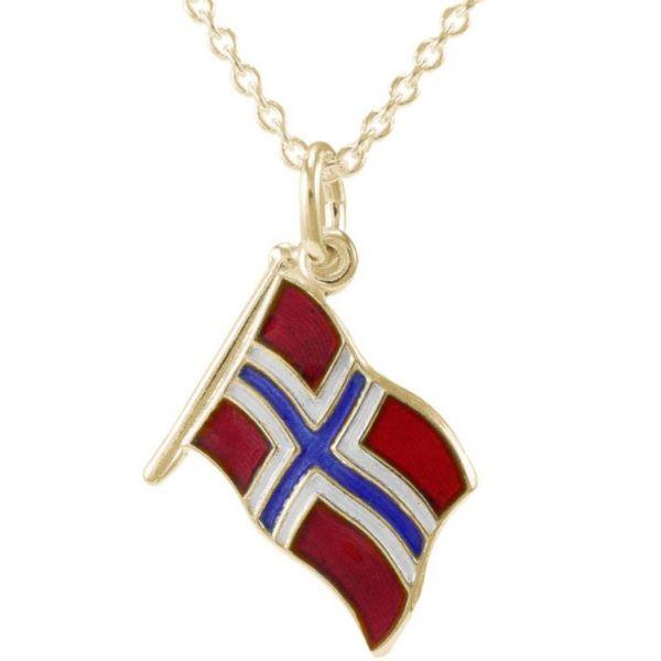 Norwegian Flag halskjede