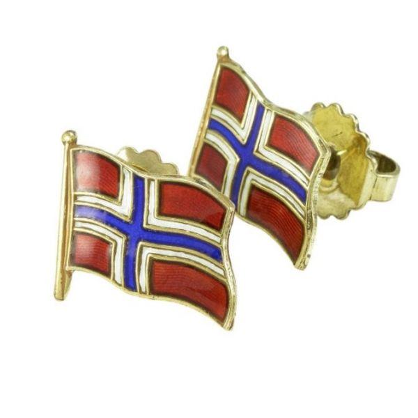 Norwegian Flag Ørepynt