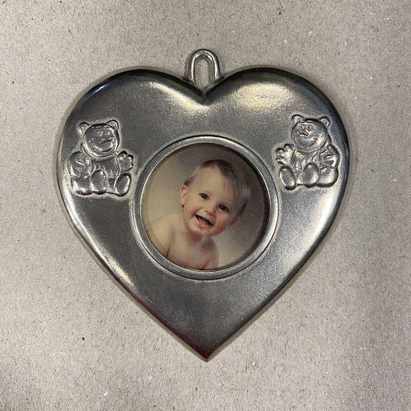 Bilderamme - Hjerte dåpsfoto