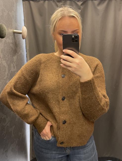 Lulu Knit Short Cardigan Rubber