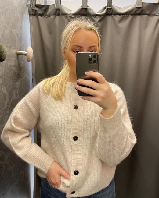 Lulu Knit Short Cardigan Birch