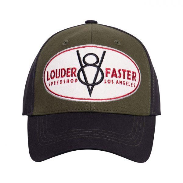KING KEROSIN BASEBALL CAP FLEX LOUDER & FASTER GREEN/BLACK