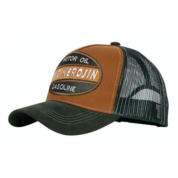 KING KEROSIN MOTOR OIL GASOLINE TRUCKER CAP BROWN/GREEN