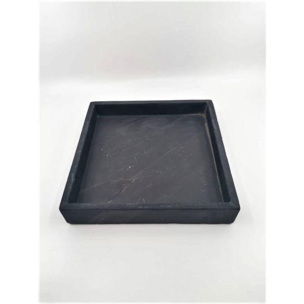 Brett sort marmor m kant 22x22