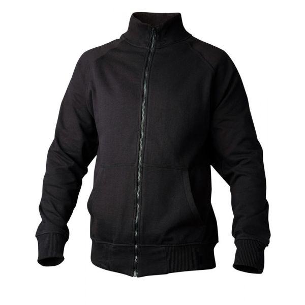 Sweatshirt 148 hel zip svart