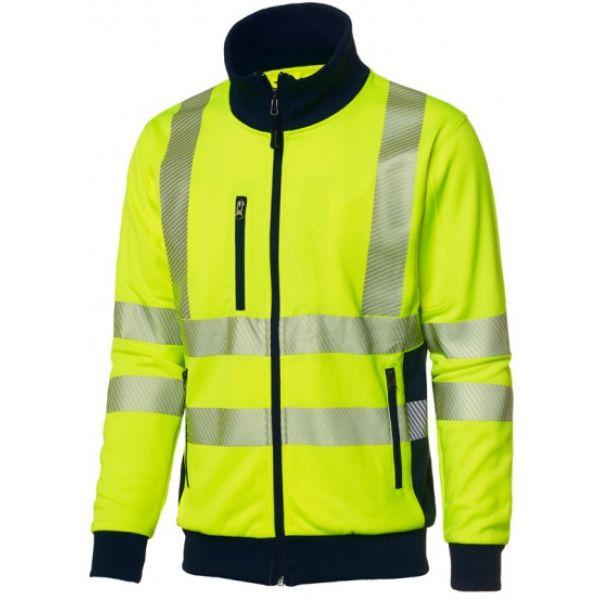 Gul jakke med 3M refleksbånd