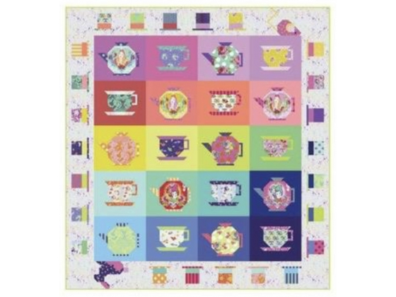 Mad hatters tea party quilt kit - (ca 1.93m x 2.06m)