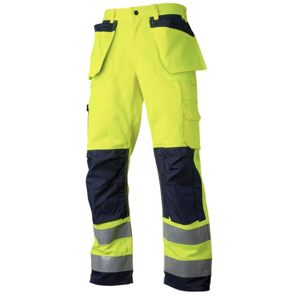 Håndverksbukse klasse 2 gul / marineblå