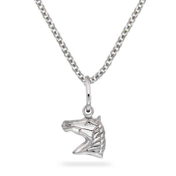 Barnekjede - Sølv hest