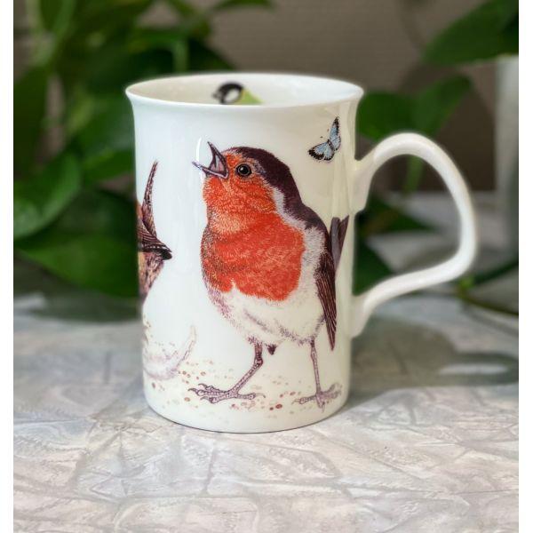 Garden Birds rødstrupe krus 0,33 l