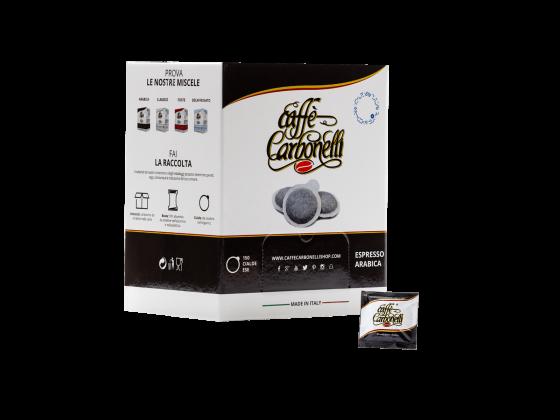 Carbonelli 100 % arabica pods 50 stk