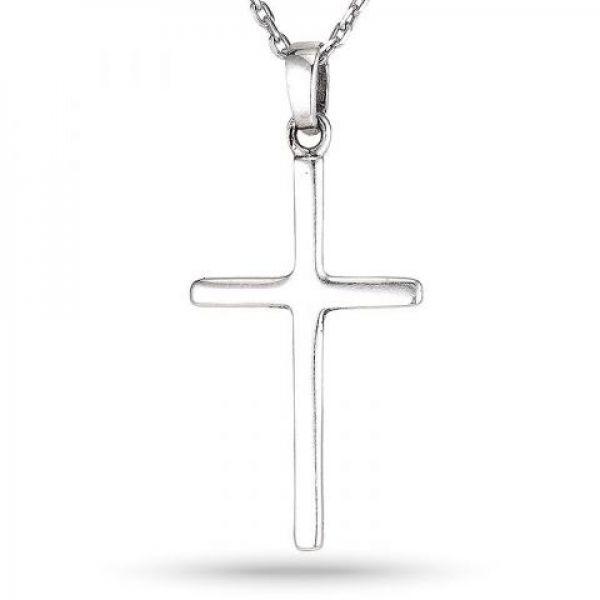Sølv kors anheng