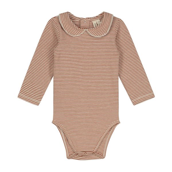 GRAY LABEL - BABY COLLAR ONESIE AUTUMN/CREAM