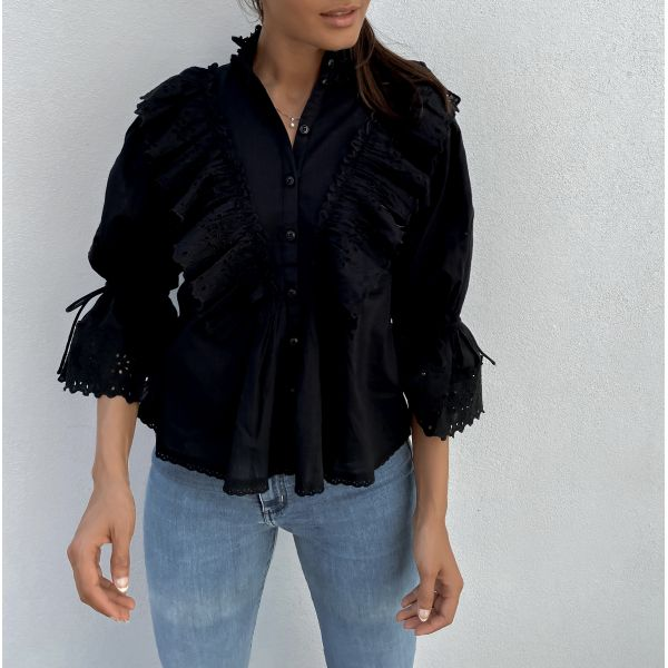 Cotton Slub Shirt - Black