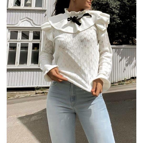 Yola knit Pullover - Eggnog