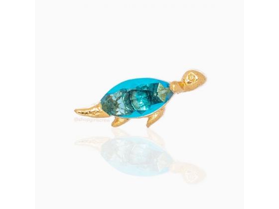 Light Blue Dino - Ørepynt