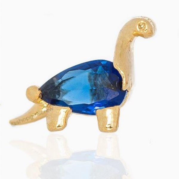 Blue Pink Dino - Ørepynt