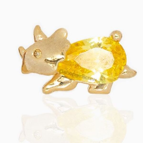 Yellow Dino - Ørepynt