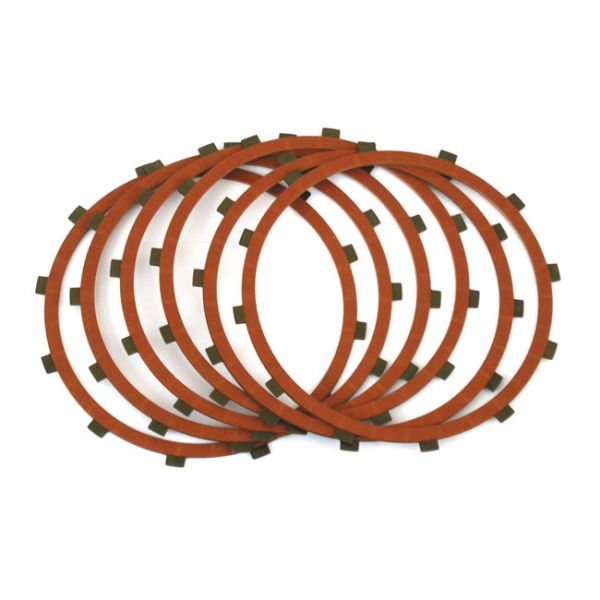 ALTO CLUTCH PLATE SET, RED EAGLE FRICTIONS ONLY (6 PLATES)  Fits: > 84-89 B.T.(NU)