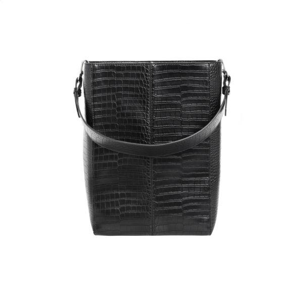 Casset matt croco svart