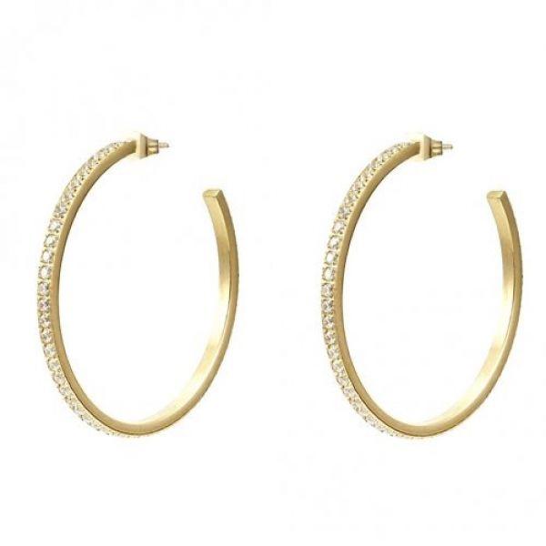 Crown Hoop Earring Gold