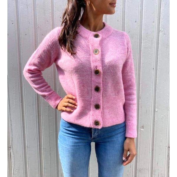 Sia Knit Cardigan - Prism Pink
