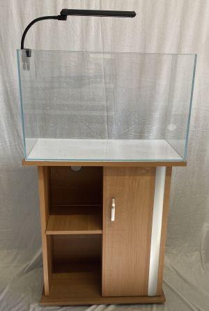 Zoorud 80L Optiwhite Akvarium Med møbel og ledlys
