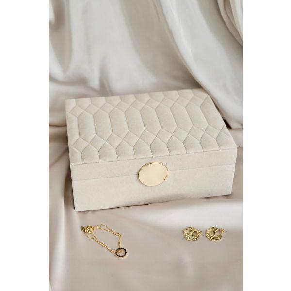 My little Secrets smykkeskrin to etasjer stort - beige