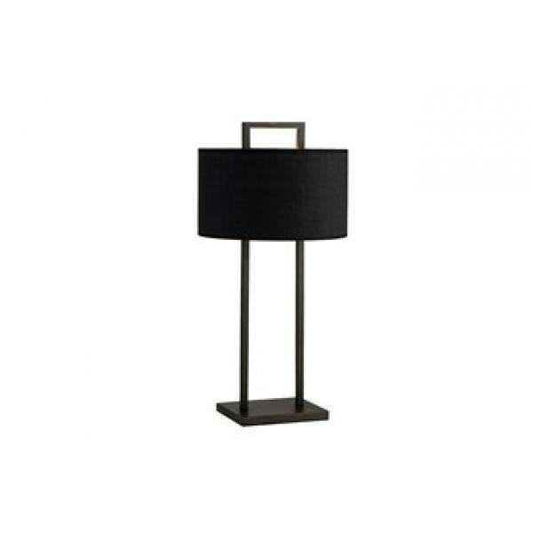 Bordlampe Aruba H70cm Rund 2 pinner sort Sort lin skjerm