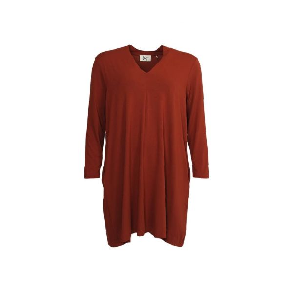 Bridget orange Jersey  Dress