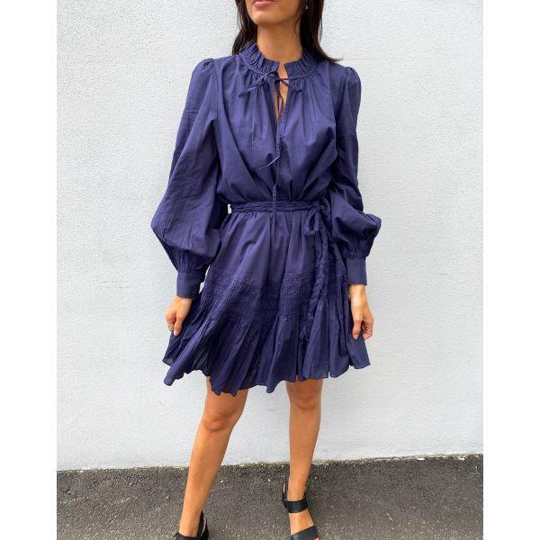 Wake up in tulum dress - blue