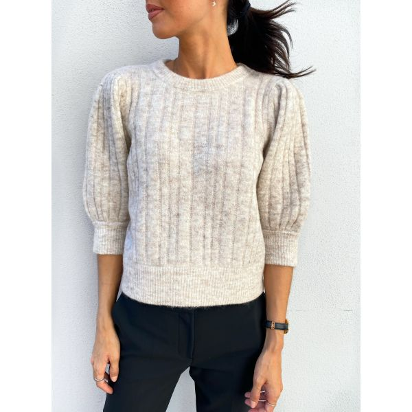 Alpha pullover - white sand mel