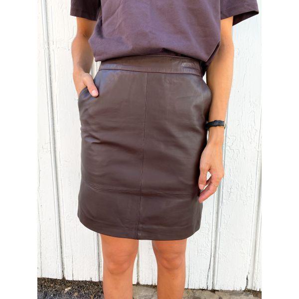 Char mini skirt - coffee bean