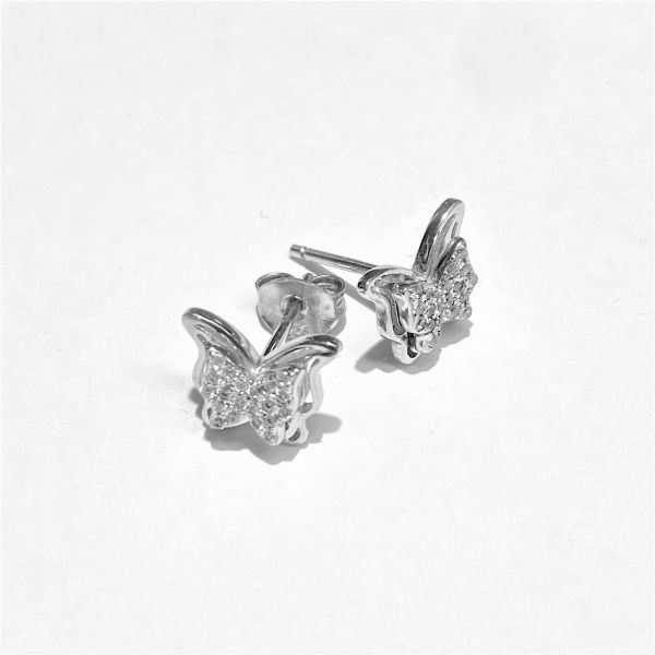 1370 - Dobbel sommerfugl sølv