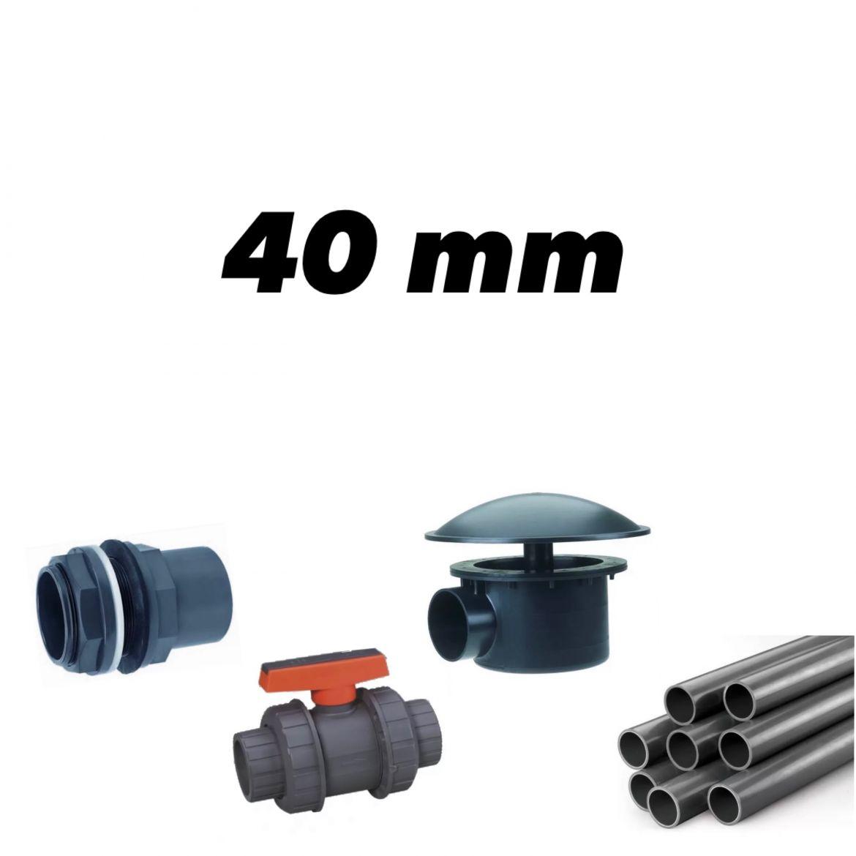 40mm rørdeler