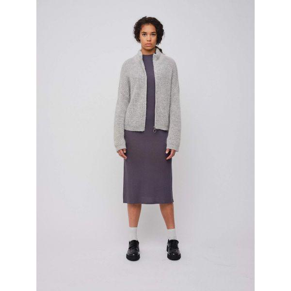 Florie Zip Jacket Light Grey