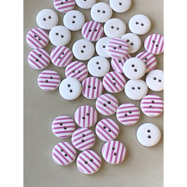 Tre med rosa striper - 15mm