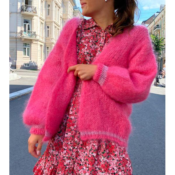Olivia Mohair Cardigan - Pink