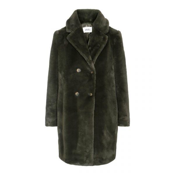 Janne Fake Fur Jacket Green