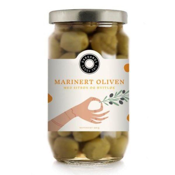 Marinert oliven med chili