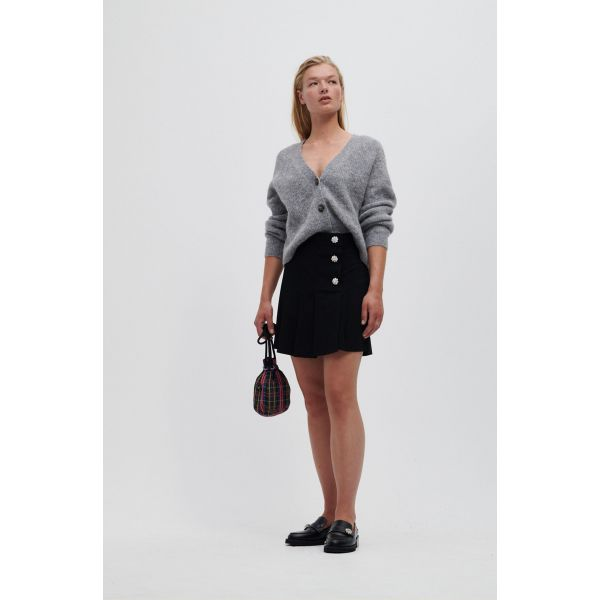 BLACK SKIRT WITH BUTTONS