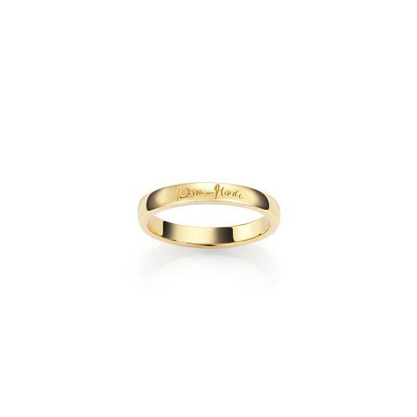Forgylt ring i sølv glatt