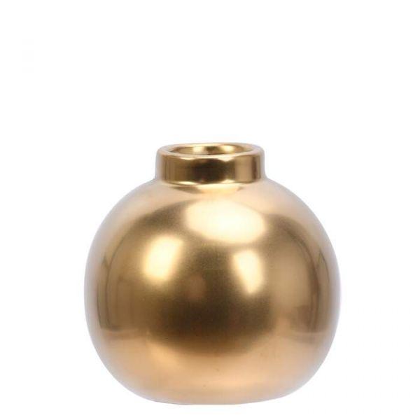Jennifer rund vase gull