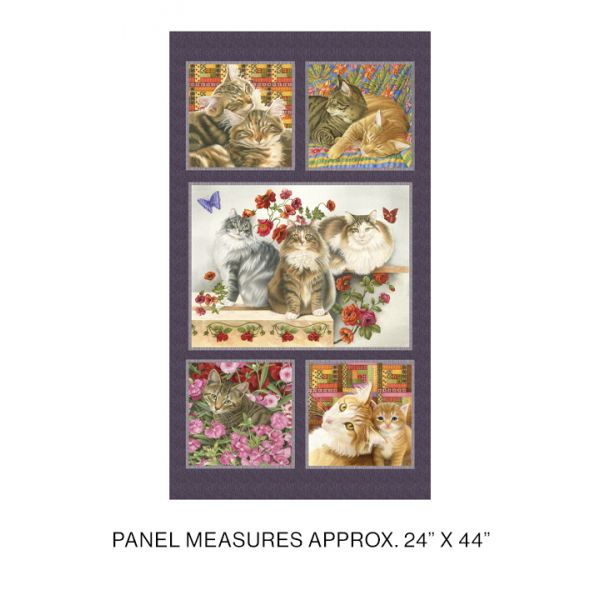 Cats and Quilts panel