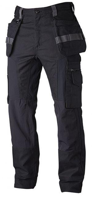 Handverks bukse stretch svart